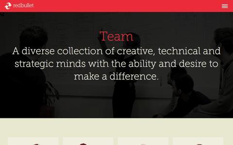 Screenshot of Team Page redbullet.co.uk - Team   Red Bullet - captured Oct. 26, 2014
