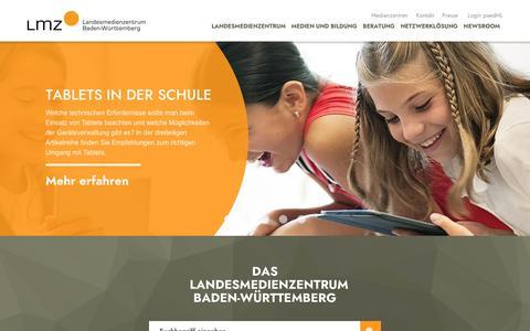 Screenshot of Home Page lmz-bw.de - Landesmedienzentrum Baden-Württemberg - Landesmedienzentrum Baden-Württemberg - captured Oct. 15, 2018