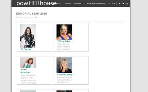 Screenshot of Team Page powherhouse.com - Editorial Team 2016 ⋆ PowHERhouse - captured Nov. 10, 2016