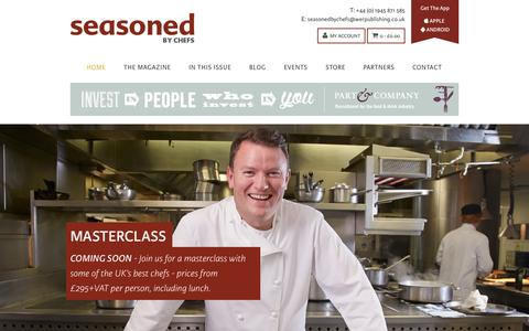 Screenshot of Home Page seasonedbychefs.co.uk - Food Magazine Seasoned by Chefs | Recipes For Food Lovers - captured Oct. 6, 2014
