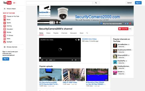 Screenshot of YouTube Page youtube.com - SecurityCamera2000's channel  - YouTube - captured Oct. 27, 2014