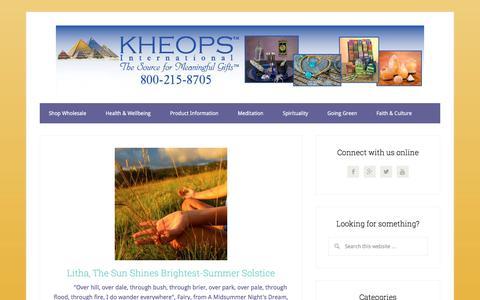 Screenshot of Blog kheopsinternational.com - Kheops International | - captured June 26, 2017