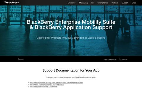 BlackBerry Enterprise App Support - Blackberry Enterprise Mobility Suites - United States