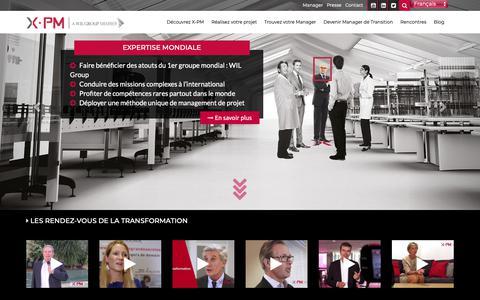 Screenshot of Home Page management-transition-xpm.com - Management de transition X-PM membre du réseau WIL Group - captured Nov. 1, 2018