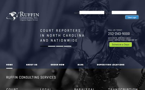 Screenshot of Home Page ruffinconsultinginc.com - Ruffin Consulting | Litigation Support Services - captured Aug. 12, 2015