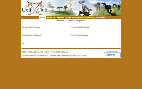 Screenshot of Products Page lowcountrygolfclubrentals.com - Home - captured Sept. 30, 2018