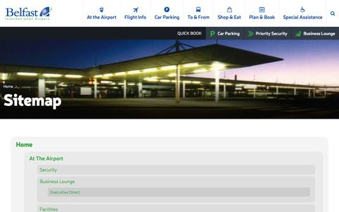 Screenshot of Site Map Page belfastairport.com - Sitemap | Belfast International Airport - captured Nov. 14, 2015