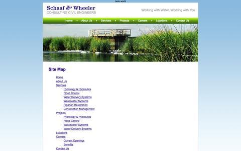 Screenshot of Site Map Page schaafandwheeler.com - Schaaf & Wheeler - Site Map - captured Oct. 4, 2014