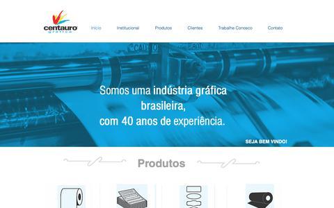 Screenshot of Home Page centauronet.com.br - Centauro Grafica   Aparecida de Goiânia - captured Sept. 27, 2018