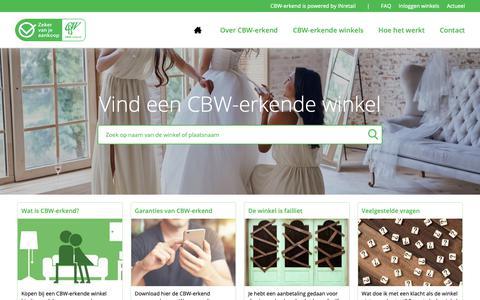 Screenshot of Home Page cbw-erkend.nl - CBW-erkend | Zeker van je aankoop - captured Oct. 21, 2018