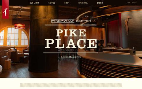 Screenshot of Locations Page storyville.com - Places - Storyville Coffee Company - captured Oct. 6, 2017