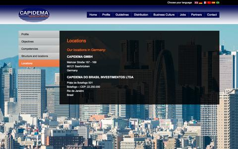 Screenshot of Locations Page handelsquelle.de - Locations - captured Oct. 20, 2016