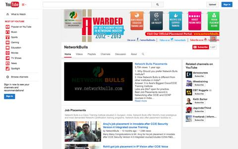 Screenshot of YouTube Page youtube.com - NetworkBulls  - YouTube - captured Oct. 26, 2014