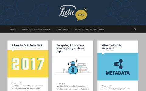 Lulu.com: The Blog