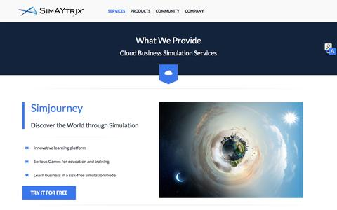 Screenshot of Services Page simaytrix.com - SimAYtrix - Services - captured Dec. 10, 2016