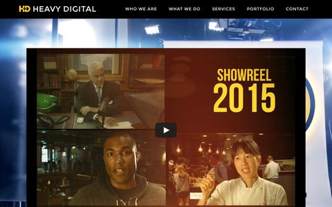 Screenshot of Home Page heavydigital.net - HD: Boston Video Production, Editing & Camera Crews - captured Dec. 8, 2015