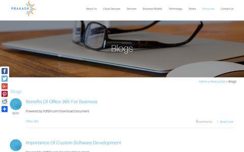 Screenshot of Blog prakashinfotech.com - Top Software Development Company in India | Blog - captured Nov. 10, 2016