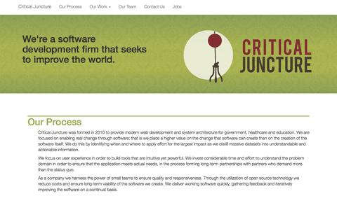 Screenshot of Home Page criticaljuncture.org - Critical Juncture - captured May 23, 2017