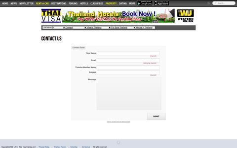 Screenshot of Contact Page thaivisa.com - Contact Us - Thaivisa - captured Sept. 19, 2014