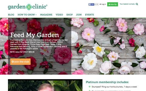 Screenshot of Signup Page gardenclinic.com - Join - captured Feb. 15, 2016