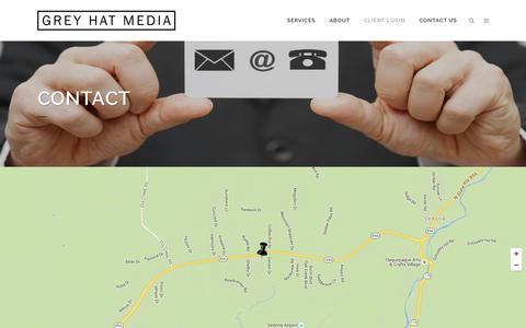 Screenshot of Contact Page greyhatmedia.com - Contact Us - Grey Hat Media LLC - captured Feb. 1, 2016