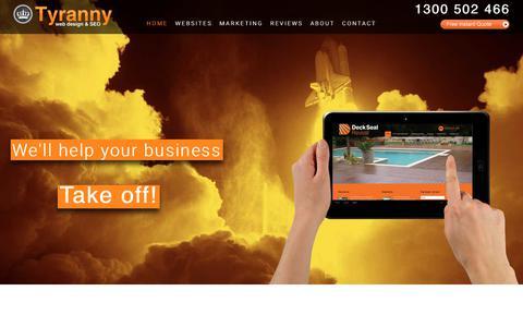 Screenshot of Home Page tyrannywebdesign.com.au - Website Design Melbourne | SEO Companies | Tyranny Web Design - captured Nov. 3, 2017
