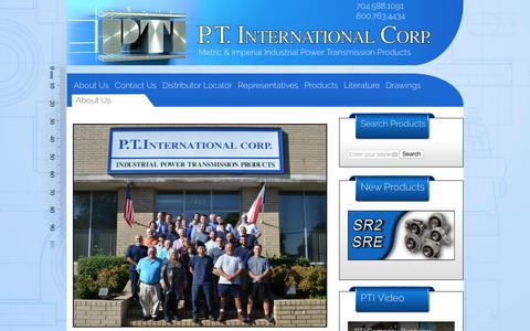 Screenshot of About Page ptintl.com - About Us | PT International Corp - captured July 7, 2017