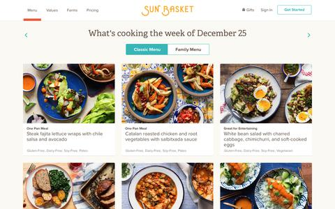 Sun Basket: Menu for the Week | Fresh, Sustainable Meals Delivered to Your Door | Sun Basket