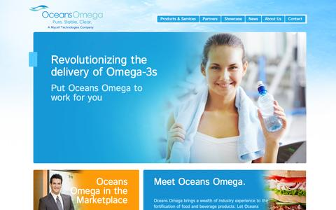 Screenshot of Home Page mycelltechnologies.com - Home | Revolutionizing the delivery of Omega-3s | Oceans Omega - captured July 3, 2015