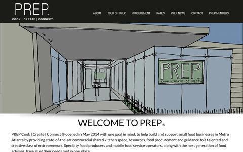Screenshot of Home Page prepatl.com - A Unique Shared Kitchen Facility - PREP Atlanta - captured Jan. 23, 2016
