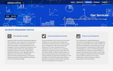 Screenshot of Services Page airsecoma.com - SERVICES - captured Oct. 4, 2014