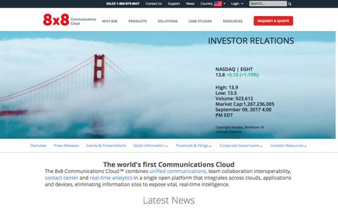 The world's first Communications Cloud   8x8, Inc.