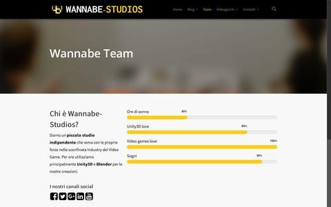Screenshot of Team Page wannabe-studios.com - Team - Wannabe-Studios - captured Aug. 11, 2016