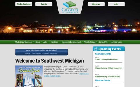 Screenshot of Home Page cornerstonechamber.com - Cornerstone Chamber of Commerce » Home - captured Oct. 3, 2014