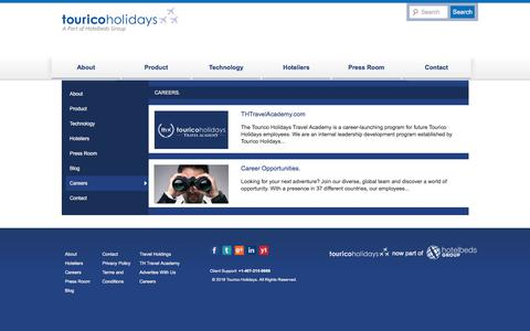 Screenshot of Jobs Page touricoholidays.com - Careers - TouricoHolidays.comTouricoHolidays.com - captured March 14, 2018