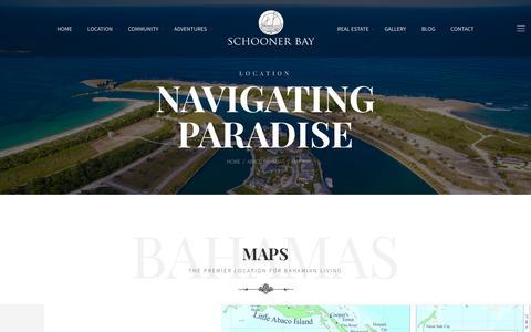 Screenshot of Maps & Directions Page schoonerbaybahamas.com - Maps - Schooner Bay Bahamas - captured Oct. 2, 2018