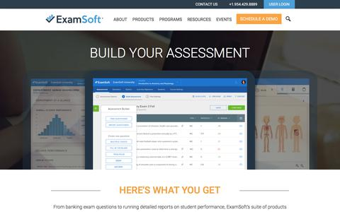 Screenshot of Products Page examsoft.com - Exam Software Products - ExamSoft Worldwide, Inc - captured Oct. 18, 2017
