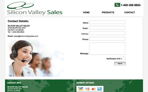 Screenshot of Contact Page siliconvalleysales.com - Contact Silicon Valley Sales - captured Sept. 21, 2018