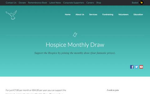 Screenshot of Signup Page sfh.ie - Hospice Monthly Draw | St. Francis Hospice - captured Dec. 21, 2018