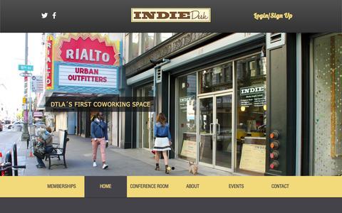 Screenshot of Home Page indiedesk.com - indie-desk_1 - captured Sept. 12, 2015