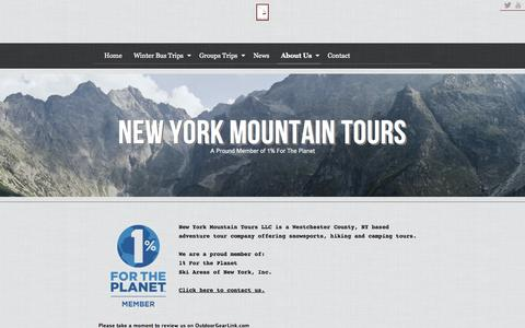 Screenshot of About Page newyorkmountaintours.com - New York Mountain Tours | About Us | Winter Ski Bus Tours to Hunter Mountain, Windham Mountain, Mountain Creek, Mt Snow and more - captured Oct. 9, 2014