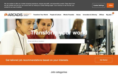 Screenshot of Jobs Page arcadis.com - Careers at Arcadis   Arcadis job opportunities - captured April 4, 2019