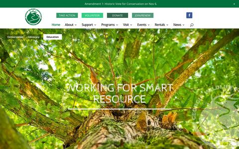 Screenshot of Home Page gwf.org - Georgia Wildlife Federation | Keeping Georgia Wild for Over 80 Years - captured Sept. 27, 2018
