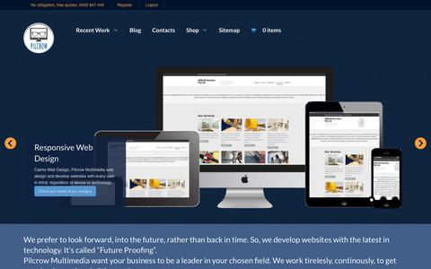 Screenshot of Home Page pilcrowmultimedia.com.au - Pilcrow Multimedia - Website design & development, Cairns - captured Sept. 29, 2014