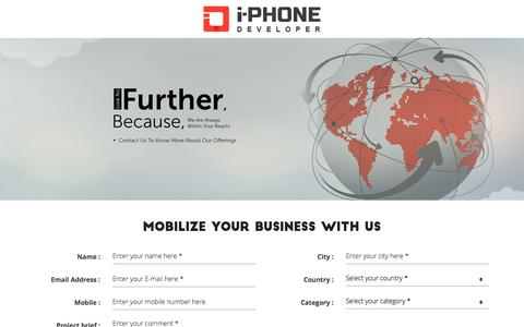 Screenshot of Contact Page i-phonedeveloper.com - Contact Us   Mobile App Development for IOS, Android Platform - captured Oct. 20, 2015