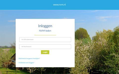 Screenshot of Login Page nvm.nl - NVM - captured Dec. 9, 2018