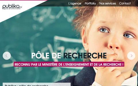 Screenshot of Home Page publika.fr - Agence de communication Publika - Agence Web Montpellier Paris. - captured Sept. 24, 2014