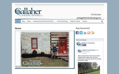 Screenshot of Home Page gallaherlandscaping.com - Gallaher Landscaping - captured Sept. 30, 2014