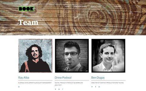 Screenshot of Team Page thebookcorps.com - The Book Corps |   Team - captured Oct. 26, 2014