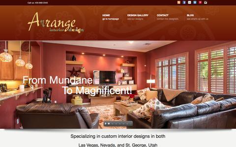 Screenshot of Home Page arrangenow.com - Arrange Interior Design Las Vegas, NV – St. George, UT - captured Oct. 4, 2014